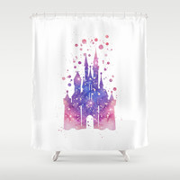 Disneys Cinderella Castle Shower Curtain by Carma Zoe