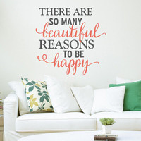 Happy Quote Wall Decal