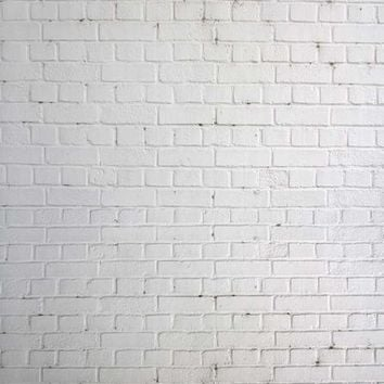 White Brick Wall Vinyl Backdrop - 6x8 - LCCR1522 - LAST CALL