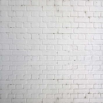 WHITE BRICK WALL PHOTOGRAPHY BACKDROP - 8x8 - LCTC1522 - LAST CALL