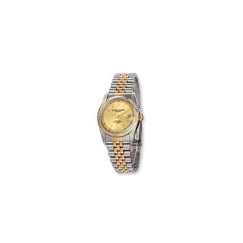 Mens Charles Hubert Ip-plated Two-tone Gold-tone Dial Watch