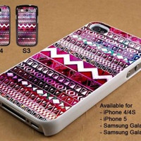 Tribal Aztec with galaxy nebula iPhone Case And Samsung Galaxy Case