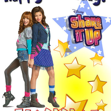 Personalized Custom Birthday T-shirt Disney Shake It Up Show