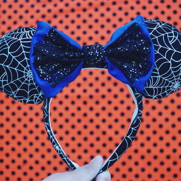 Spiderweb Halloween Mouse Ears