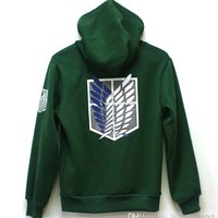!japan Anime Attack On Titan Shingeki No Kyojin Eren Scouting Legion Green Hoodie Jacket Cosplay Costume Anime Cosplay Costumes Cheap Cosplay Girls Costumes From Liuliansheng, $30.74| Dhgate.Com