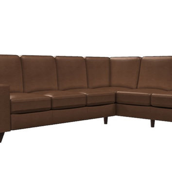 Color Customizable Leather Large Chaise Sectional Sofa Reed by Palliser