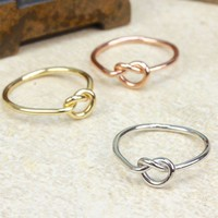 Set Of Three Love Knot Rings