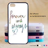 Forever And Always Love Phone Case For iPhone 6 Plus For iPhone 6 For iPhone 5/5S For iPhone 4/4S For iPhone 5C3 iPhone X 8 8 Plus