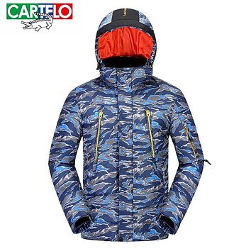 CARTELO 2017 New Camouflage jackets Men Autumn Winter hooded Thicken white duck down coat Army Green Casual waterproof windproof