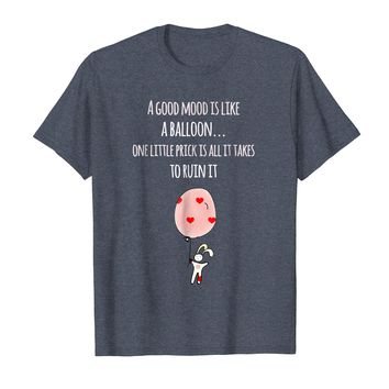 Good Mood Like A Balloon Bunny Funny T-Shirt