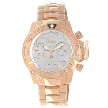 Invicta 15130 Men's Subaqua Noma II Reserve MOP Grey Dial Rose Gold Steel Bracelet Chronograph Dive Watch