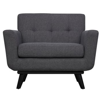James Grey Linen Chair | Overstock.com Shopping - The Best Deals on Living Room Chairs