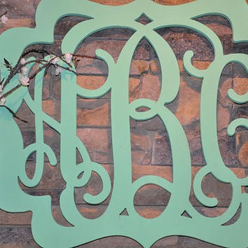 Monogram Wall Decor - Nursery Monogram - Monogram Decor - Wooden Monogram - Wedding Keepsake - Wedding Gift -