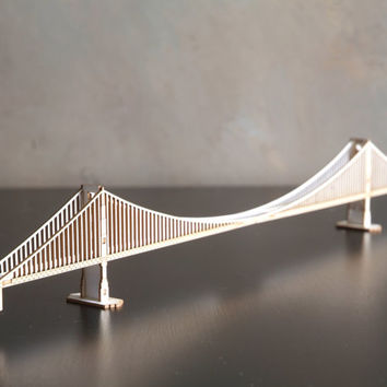 Golden Gate Bridge Model Kit Laser Cut Parts,  San Francisco California