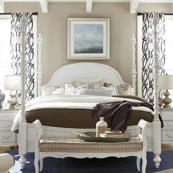 Paula Deen Dogwood Cal King Poster Bed - Blossom Finish
