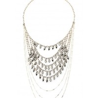 Rock Your Gypsy Soul Silver Statement Necklace