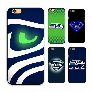 Hot Sale! Seattle Seahawks phone hard case cover for iPhone 4s 5s 5c 6 6s Plus 7 7plus