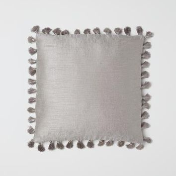 Cushion Cover with Tassels - Taupe - Home All | H&M US