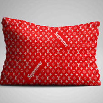 "Cool Supreme Red Logo Custom Zippered Pillow Case 16""x 24"" - Two sides cover"