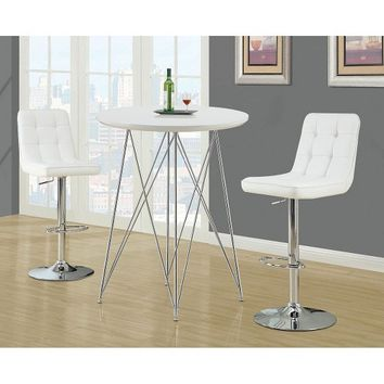 Monarch Specialties Pub Table - White