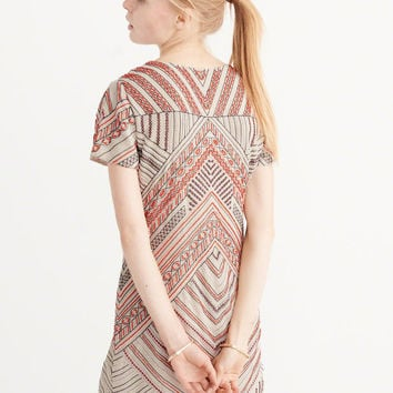 Womens Beaded Shift Dress | Womens Clearance | Abercrombie.com