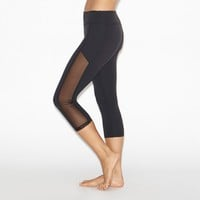Crystal Mesh Paneled Leggings