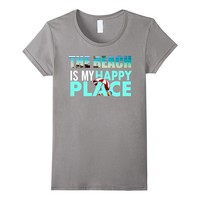 Beach Is My Happy Place Funny Tshirt Summer Tees