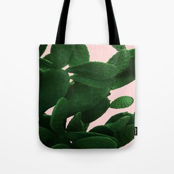 Cactus On Pink Tote Bag by ARTbyJWP