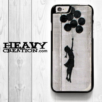 Banksy Art for iPhone 4 4S 5 5S 5C 6 6 Plus , iPod Touch 4 5  , Samsung Galaxy S3 S4 S5 S6 S6 Edge Note 3 Note 4 , and HTC One X M7 M8 Case