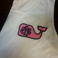 Vineyard Vines Inspired Monogrammed Tank Font shown MASTER CIRCLE