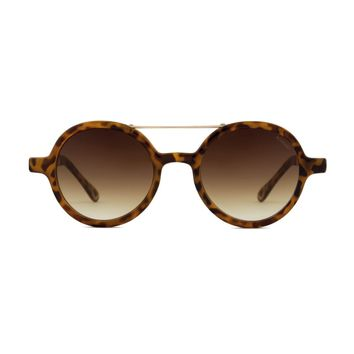 Komono - Vivien Metal Series Tortoise Rose Gold Sunglasses / Polycarbonate Gradient Brown Lenses
