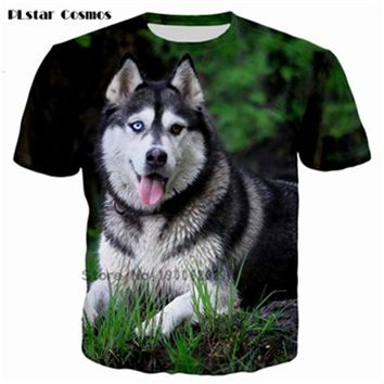 summer style tshirt casual clothing short sleeve camiseta 3d t shirt animal husky Akita dog printed T-shirts swag clothes