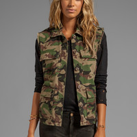 Obey Lerner Vest in Field Camo from REVOLVEclothing.com