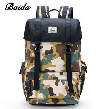 University College Backpack DAIDA Men Military s Cool Casual Daypacks Canvas Camouflage Laptop  School Bags For Teenage Boy  MochilaAT_63_4