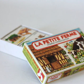 "Nathan's game ""The little Farm"" / Association - dominos game / 1980"