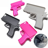 3D Gun Shape Crashproof Hard Phone Case Cover Shell for iPhone 5 6 6S 7 8 Plus