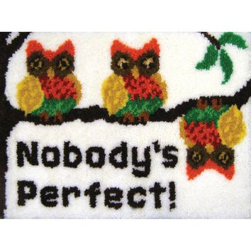 "Nobody's Perfect Latch Hook Kit 27""X20"""