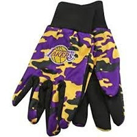 NBA Los Angeles Lakers Camouflage Utility Gloves, Yellow