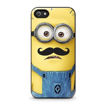 minions with moustache iphone 5 5s se case cover  number 1