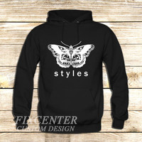Harry Styles tattoo Butterfly One Direction on Hoodie Jacket