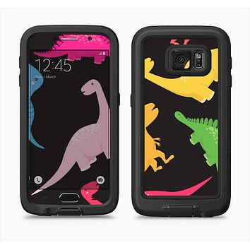 The Vector Neon Dinosaur Full Body Samsung Galaxy S6 LifeProof Fre Case Skin Kit