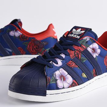 Adidas Superstar 80s Rita Ora Shell Toe Flower Casual Sneakers