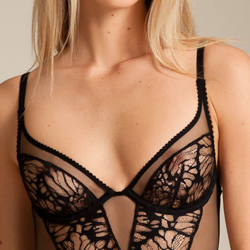 Kiki De Montparnasse: Grand Fleur Longline Bra at Nancy Meyer