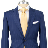 Canali Navy Pin Stripe Suit