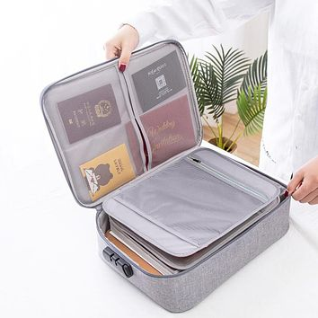 Big Capacity Document Organizer Insert Handbag Travel Bag Pouch ID Credit Card Wallet Cash Holder Organizer Case Box Accessories
