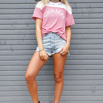 WILDFOX | Champs Destroyed Football Tee