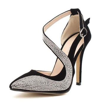 Women's Rhinestone Design High Heels