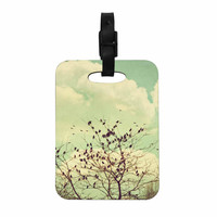 "Sylvia Coomes ""Birds of a Feather"" Green Brown Decorative Luggage Tag"