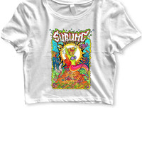 Sublime Mermaid Womens Crop T Shirt