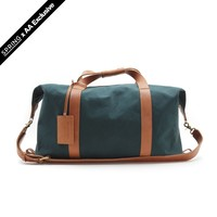 Classic Canvas Weekender Bag (Forest/Rust)